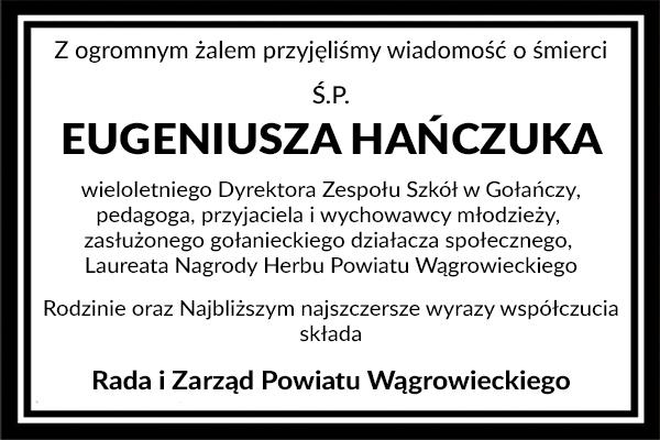 kondolencje-Eugeniusz-Hanczuk