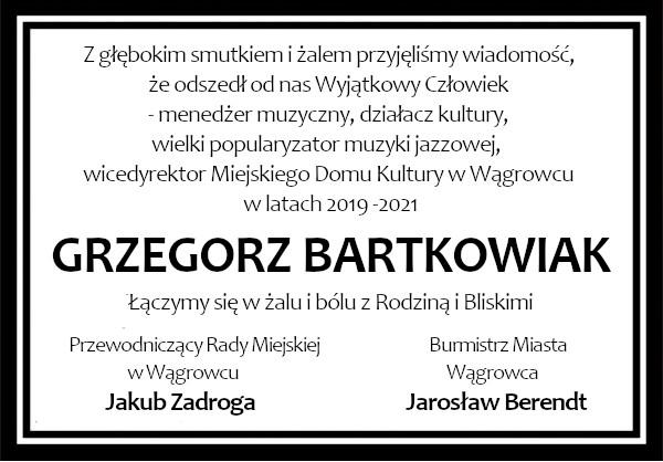 kondolencje Bartkowiak