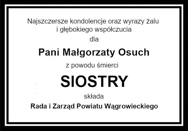 kondolencje Osuch