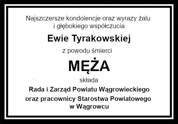 kondolencje Tyrakowska